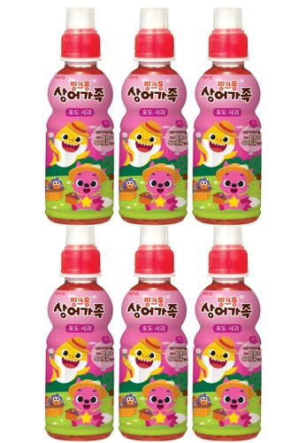 Lotte Chilsung Beverage grey and red and pink and orange and purple and multi and beige and gold and navy LOTTE Babyshark Grape Apple Fruit Juice - Pack (6 x 235ml) B88BFES121FEB2GS_1