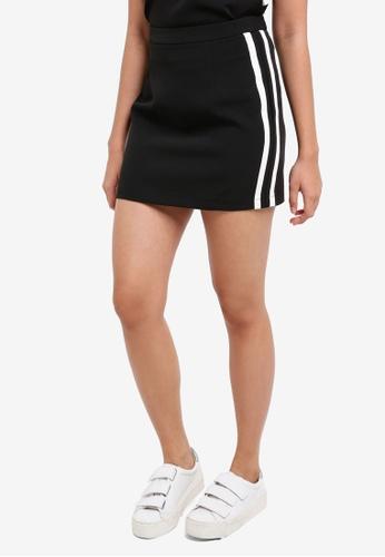 Something Borrowed black Striped Mini Skirt 9E7CDAA9DA4F22GS_1