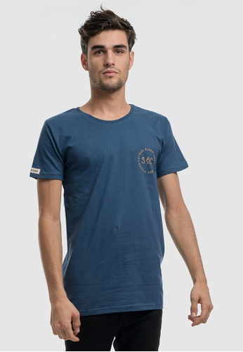 Stock & Co. blue Stamped Signet Tee 7E56DAAB020783GS_1