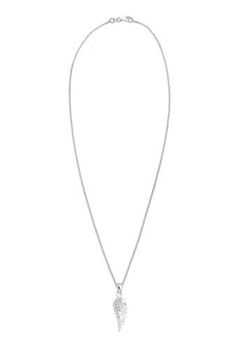 施esprit 工作華洛世奇水晶翅膀 925 純銀項鍊, 飾品配件, 項鍊