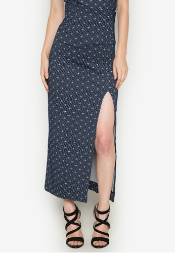 Y.R.Y.S. Your Rules Your Style navy Illusion Lace Diamond Flawless Pencil Skirt YR061AA0J4OAPH_1