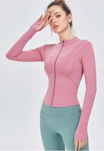 Twenty Eight Shoes pink VANSA Fashion Slimming Yoga Jacket VPW-Y0009 F78B2AAE458E6EGS_1