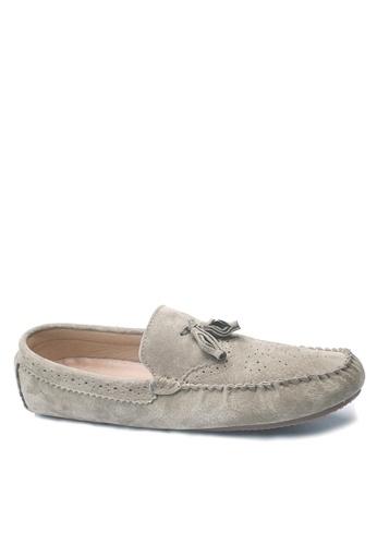 Twenty Eight Shoes 褐色 拷花真皮休閒鞋 VMC9880 345DBSH047DED0GS_1