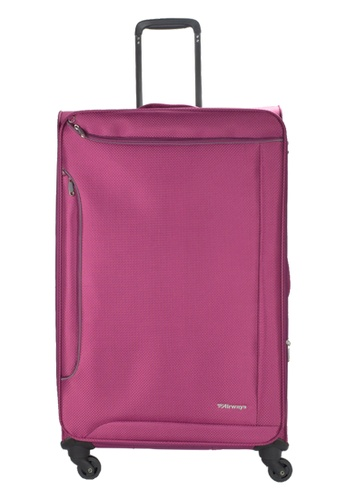 Airways purple Airways Rosolite ATS 7925 Polyester 28 inch Spinner Soft Case Luggage - Fuchsia 04202ACD37CE41GS_1
