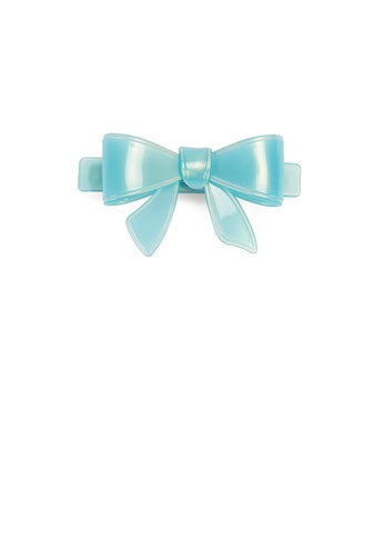 Glamorousky blue Simple and Cute Light Blue Ribbon Small Hair Slide 00305ACEFEC1E0GS_1