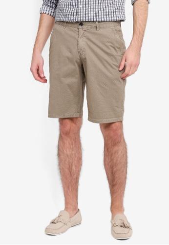 Electro Denim Lab 褐色 Printed Shorts EL966AA0SPC9MY_1