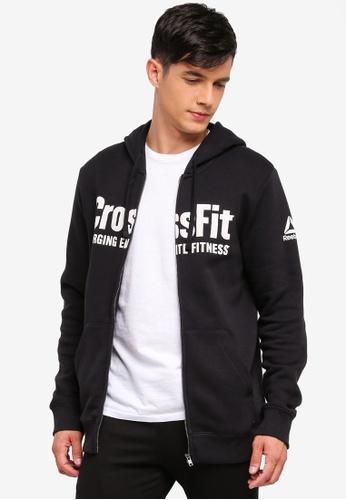 Reebok 黑色 Reebok CrossFit F.E.F. Zip Hoodie Men RE691AA0SW3LMY_1