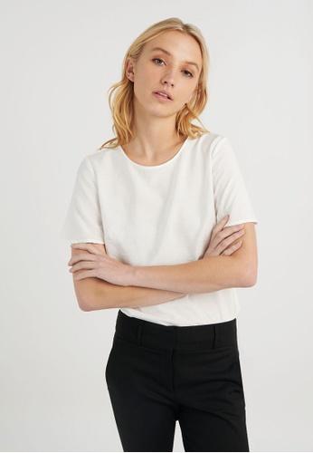 FORCAST white FORCAST Rania Short Sleeve Blouse E6B4BAA27A671BGS_1