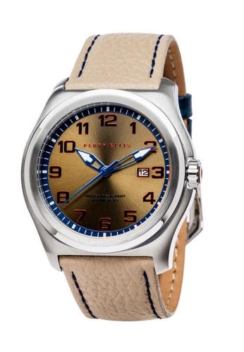 PERRY ELLIS blue and silver and beige Perry Ellis Memphis Men 44mm Quartz Watch 04005-01 CD1BDAC57D9406GS_1