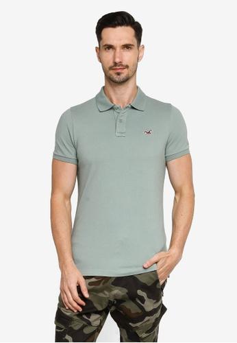 Hollister green Musclefit Polo Shirt 5D75FAA36B891EGS_1