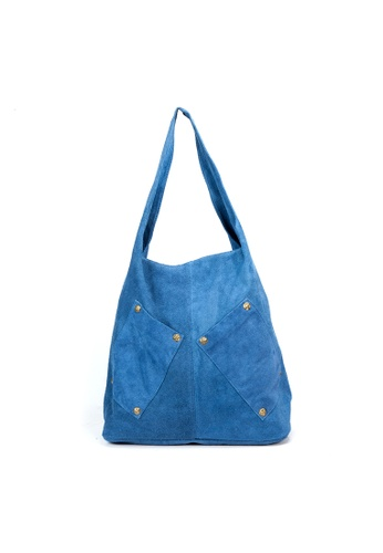 Shu Talk blue DMR Touch Boho Causal Suede Leather Shopping Tote Hobo 628D9AC98B2B71GS_1