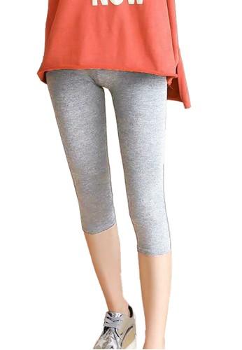 Chelyne grey Chelyne Legging Hamil 7/8 Middle-waist J137 Maternity Legging D68FDAA8AE2479GS_1