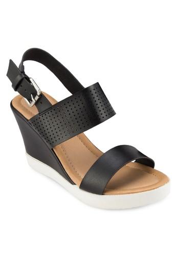 繞踝厚底楔型涼鞋,esprit tw 女鞋, 鞋