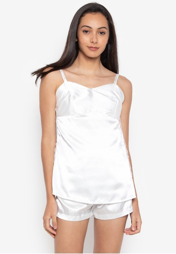d8645f88e4 Sleepyhead white Abbey Silk Camisole And Shorts Set With Side Lace  5281FAA05D8911GS 1
