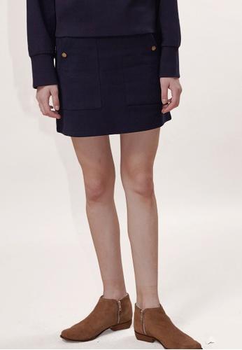 OUTSTANDING ORDINARY navy Gate Mini Skirt OU203AA0GIGMSG_1