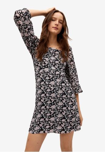 Mango black Floral Print Dress E95D8AACB5832EGS_1