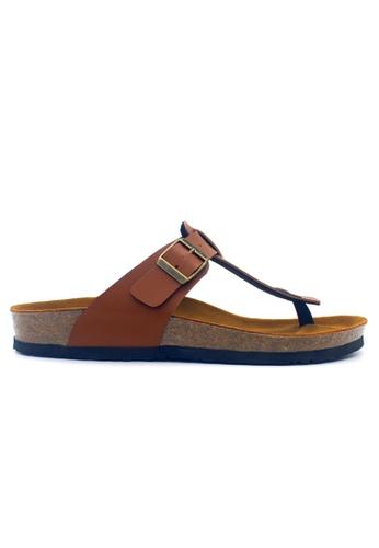 SoleSimple 褐色 Copenhagen - 駱駝色 百搭/搭帶 軟木涼鞋 07E0CSHA984C5BGS_1
