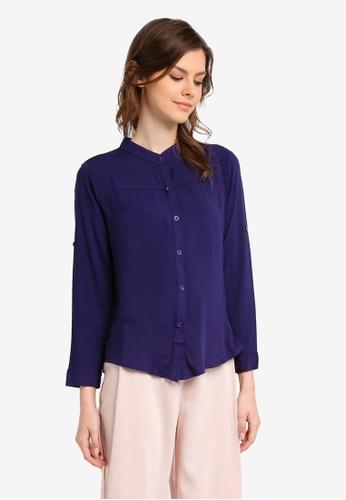 BYN blue Long Sleeve Top BY059AA0SWLMMY_1
