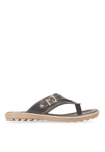 JAVA SEVEN black JAVA SEVEN Shoes Gusali 1 Black Men's Sandal & Flip Flops Genuine Leather JA154SH48ILFID_1