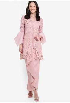 b89e95107ac Lace Kebaya With Cascading Sleeves Set