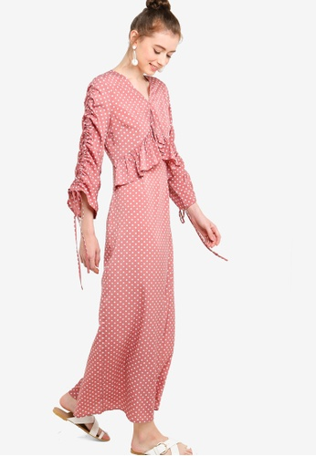d14338cd01e Buy Lubna Drawstring Sleeves Frill Dress Online on ZALORA Singapore