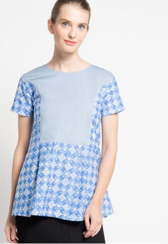 Rianty Batik blue Blouse Gladys RI993AA22YJTID_1