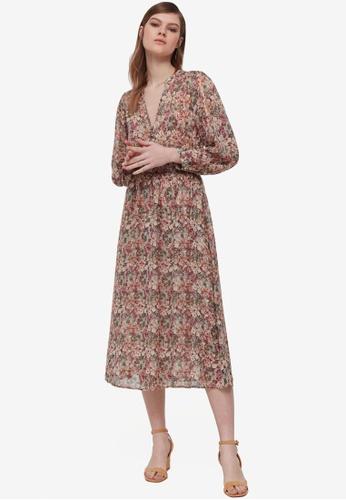 OVS green Floral Print Dress B4466AA30BB024GS_1
