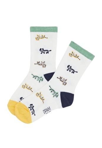 Du Pareil Au Même (DPAM) white Cute Animal Socks A82FBKA224C1F7GS_1