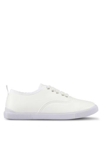ZALORA white Grosgrain Binding Sneakers 9A53DSH984610AGS_1