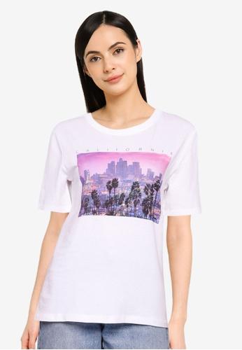 ONLY white Iris Lifey City Tee DDAD6AA1932255GS_1
