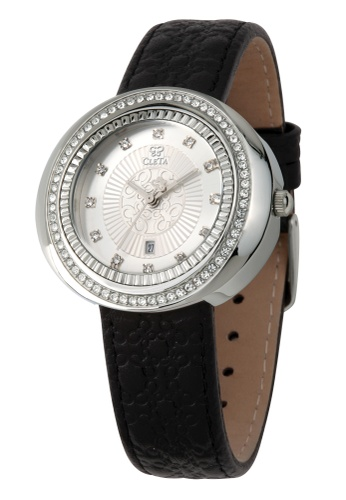 CLETA black and silver Cub Eye Watch CL733AC95FTKPH_1
