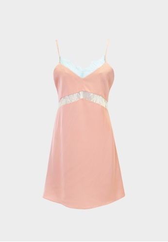 Pomelo pink Lace Hem Chemise - Pink 2F412AA29BE931GS_1