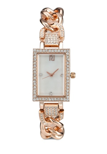 River Island orange CURBLINK RECTANGLE WATCH 0D002AC2459690GS_1