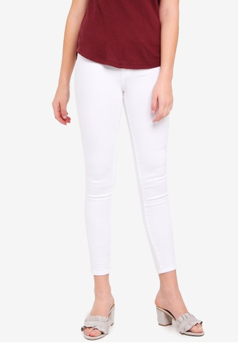 Abercrombie & Fitch white White Skinny Jeans B329DAAA6BE127GS_1