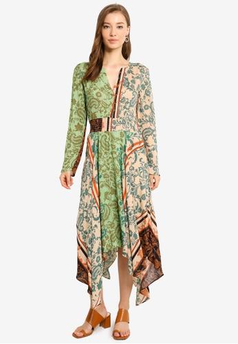 Desigual green Printed Dress 42494AA5C9E4ECGS_1