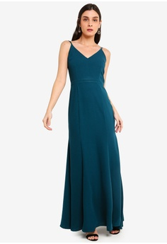 05ccb5beea2 FORCAST green Luciana Maxi Dress 3D0EAAACCF0677GS 1