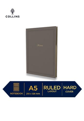 Collins grey Collins Kenrich   ─  Notebook A5 Ruled Grey 78CD7HL699EF77GS_1