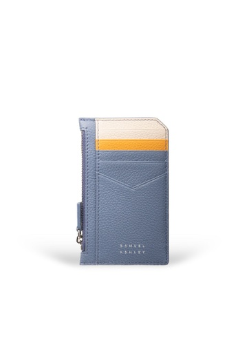 Samuel Ashley blue Nicky Card Case with Zip Pocket - Denim 6E702AC0F90AB3GS_1