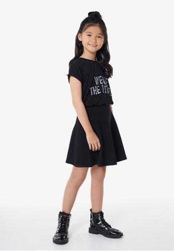 Gen Woo black Skater Skirt By Gen Woo 4918EKA9A74642GS_1
