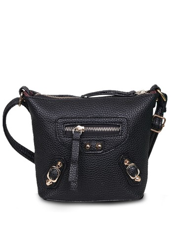 288b6c744ed2f Quincy Label black Tas Selempang Sling Bag Wanita Balen - Hitam  ABD7BAC07BCB16GS 1