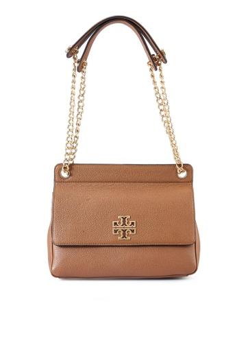 TORY BURCH brown Britten Flap Shoulder Bag (NT) B1AB1AC956238FGS_1