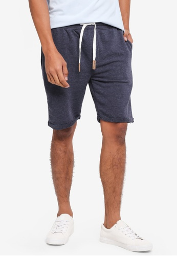Indicode Jeans 海軍藍色 Aldrich Jerset Drawstring Shorts 011EAAAAC7D746GS_1