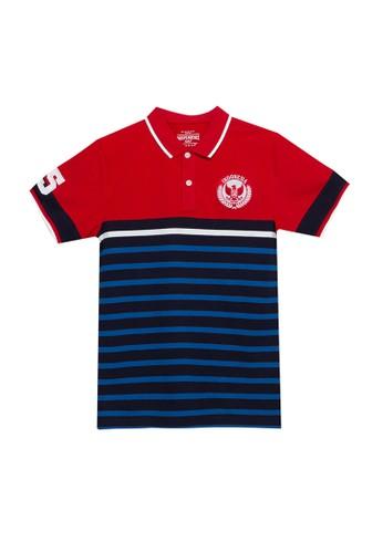 Giordano navy Junior National Day Polo Shirt 78CC0KA85E7EDBGS_1