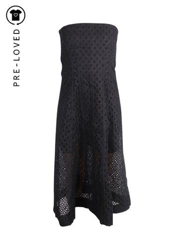 Stella Mccartney black Pre-Loved stella mccartney Black Handembroidery Strapless Dress. 2BF95AA2F2BED9GS_1