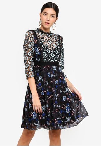 Little Mistress multi Mixed Print Prom Dress 85C64AA3051450GS_1
