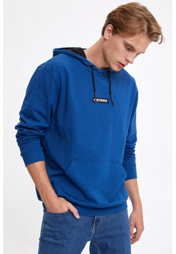 DeFacto blue Man Knitted Sweat Shirt 421FEAA9A20B7FGS_1