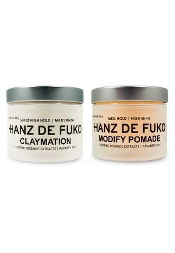 Hanz de Fuko Hanz de Fuko Claymation and Modify Pomade Set HA369BE00NKHSG_1