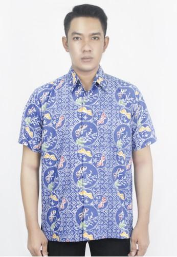 INA PRIYONO white and blue Hem Batik Pria Biru Motif Semarangan by Ina Priyono CB45CAA08060B8GS_1