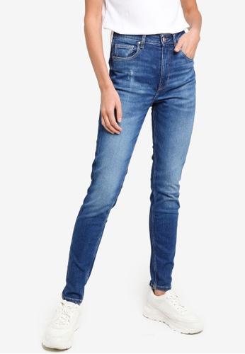 Guess blue Super High Skinny Jeans 40FA6AA6E084E4GS_1