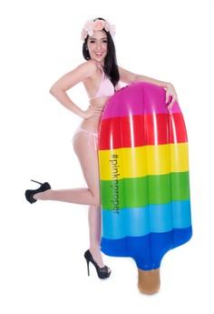 彩虹冰棒充氣浮床